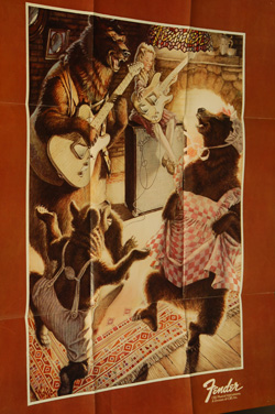 1975 Fender Goldilocks Poster