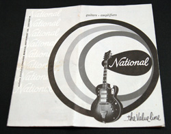 1959 National Guitar/ Amp Catalog