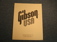 Gibson Suggested Retail Price List