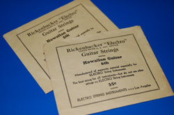 1966 Rickenbacker Electro guitar string envelopes