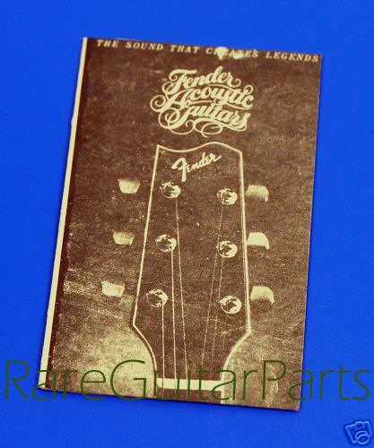 Fender Acoustic Guitar Tag